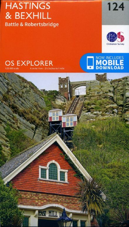 OS Explorer 124 - Hastings & Bexhill, Battle & Robertsbridge